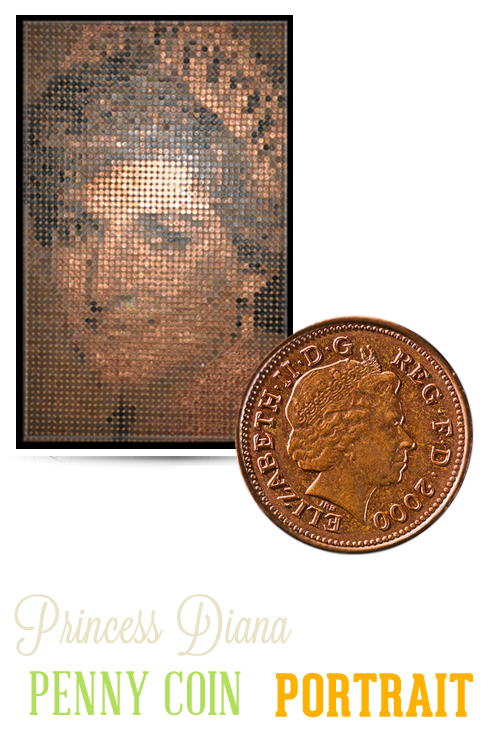 Blackpool Ripley's Princess Diana Penny Coin Portrait