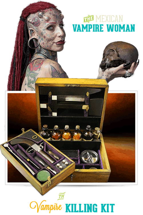 Copenhagen Ripley's Believe It or Not Vampire Killing Kit & Vampire Woman