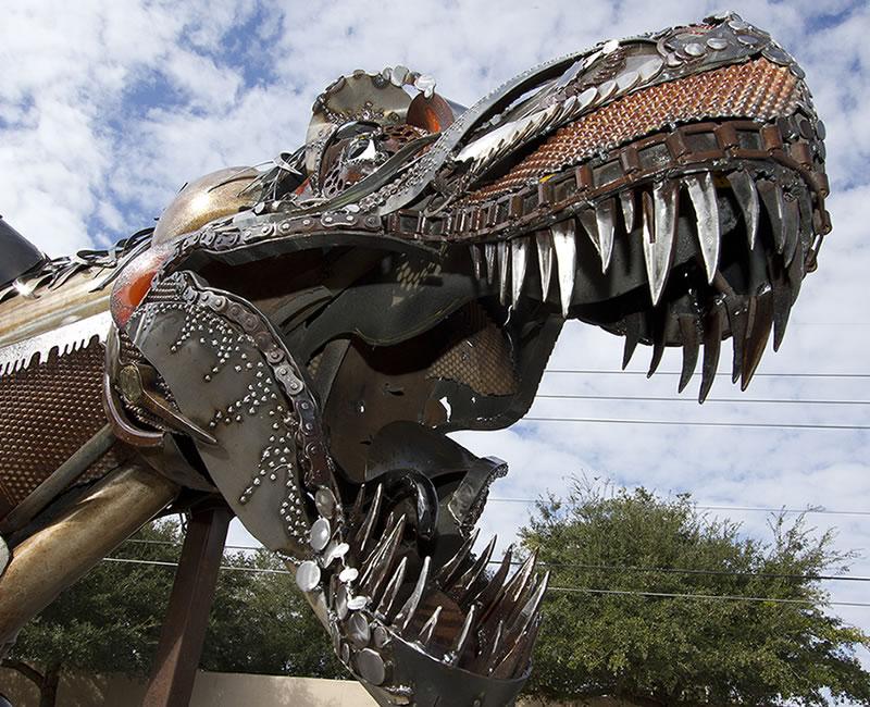 T Rex Scrap Metal Sculpture Ripley S Online Extras