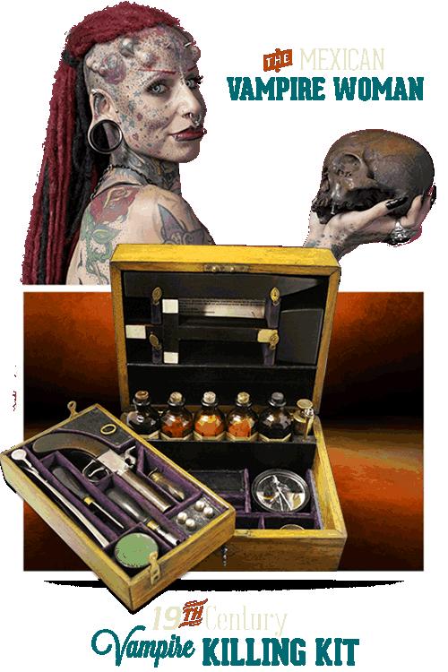 Gatlinburg Ripley's Believe It or Not Vampire Killing Kit & Vampire Woman