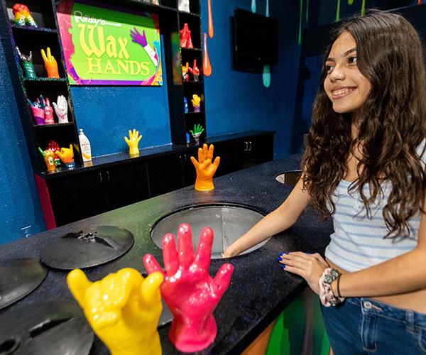 Wax hands gallery image