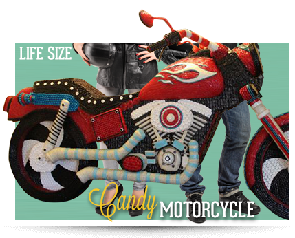 Hollywood Ripley's Believe It or Not Candy Motorcycle