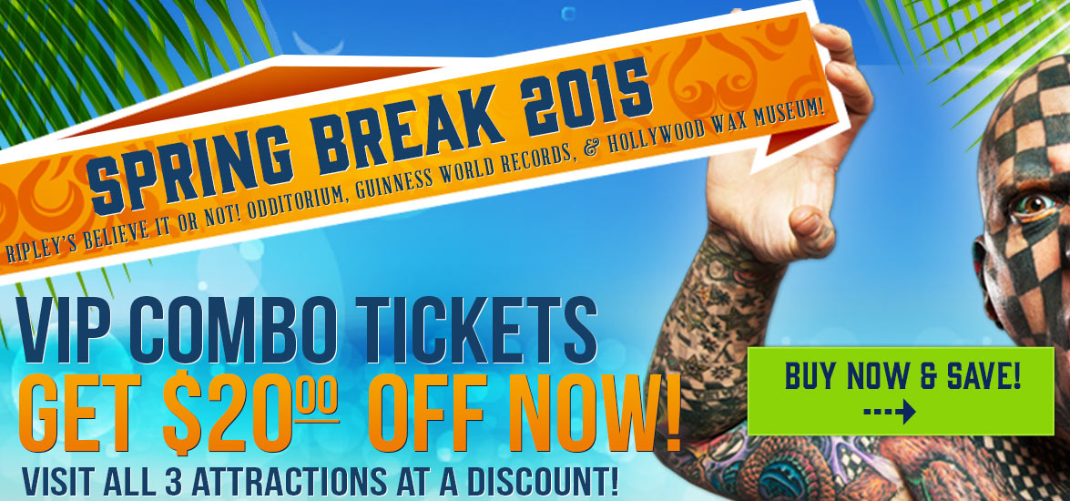 Save VIP discount tickets spring break