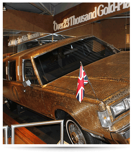 Panama City Beach Ripley's Believe It or Not Gold Plated Limousine