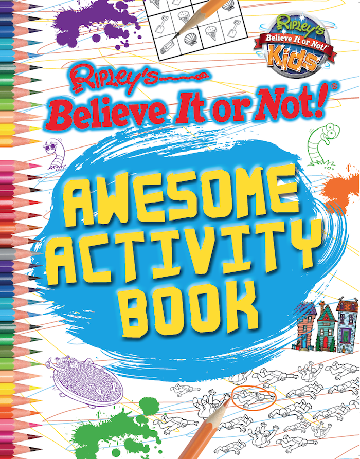 Book Cover Typography Worksheets : Awesome activity book ripley publishing