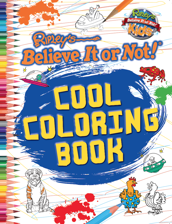 Cool Book Covers To Draw ~ Cool coloring book ripley publishing