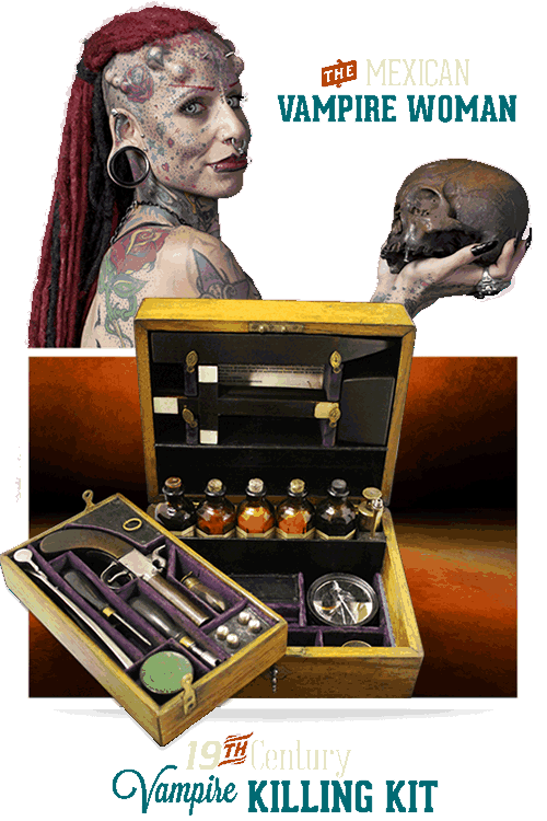San Antonio Ripley's Believe It or Not Vampire Killing Kit & Vampire Woman