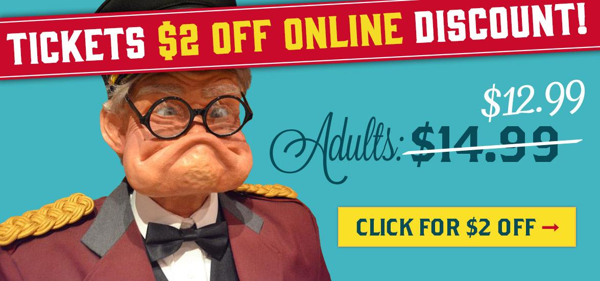 Ripleys St Augustine Online discount tickets