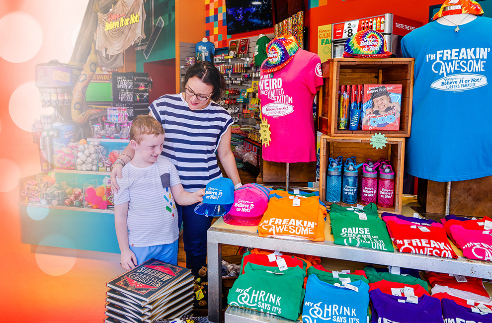 People in Cargo Hold gift shop