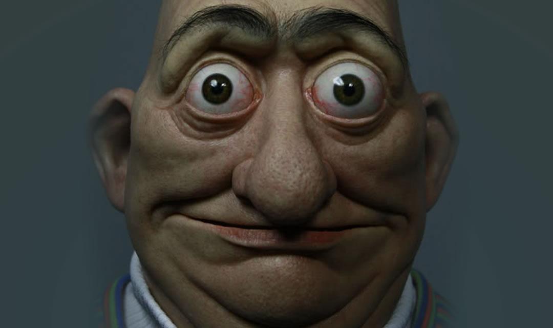 Muppet Bert humanized.