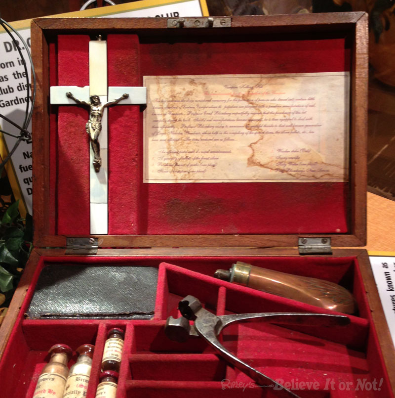 Vampire Killing Kit Bearing A Crucifix Just In Case