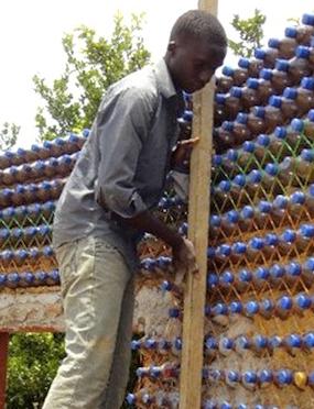 plastic bottle housing