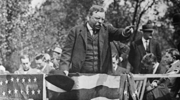 Teddy Roosevelt pointing.