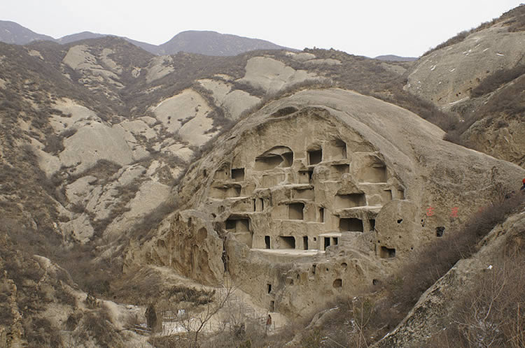 Caves in China's Shaanxi province