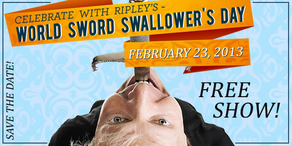 sword swallowers day