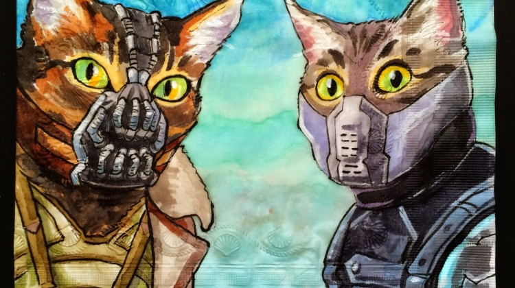 Bane Cat and Winter Soldier Cat