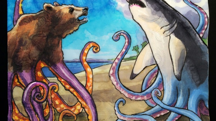 Octobear and Sharktopus