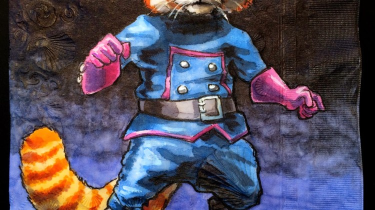 Red Panda in Rocket Raccoon's Uniform