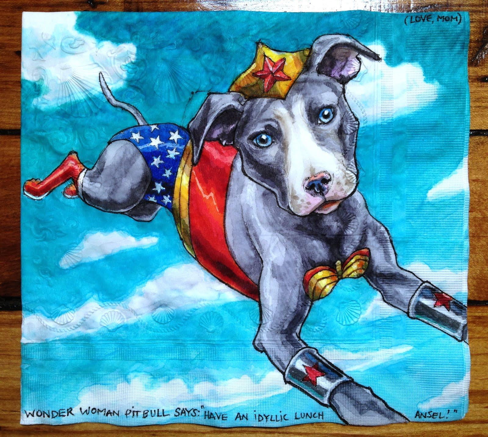 Wonder Woman Pitbull
