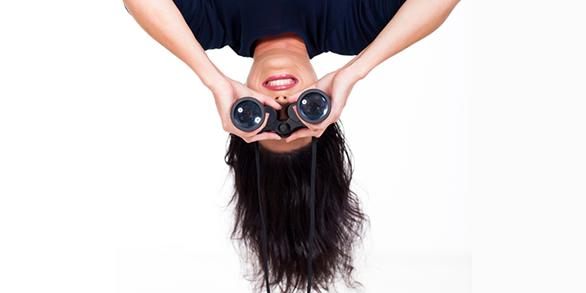 upside down girl