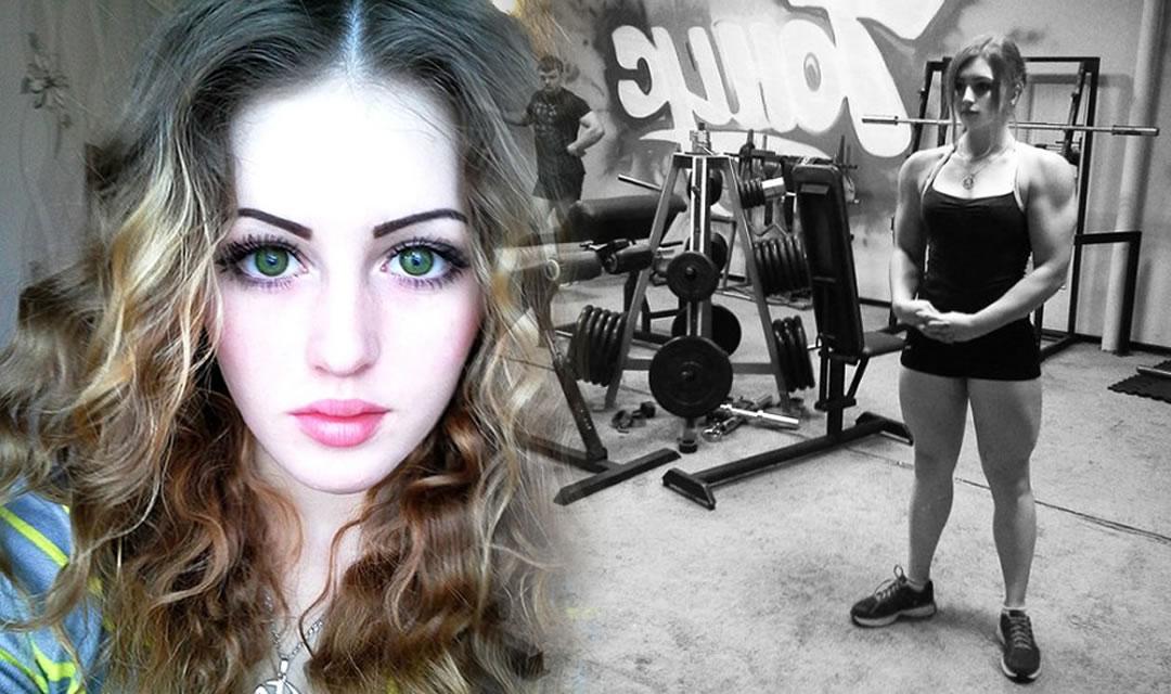 Cute 17 Year Old Girls doll faced bodybuilder