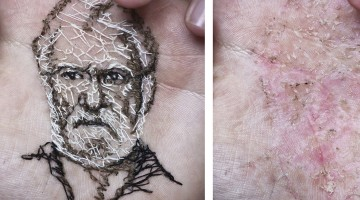 Artist Weaves Portraits into His Own Hand!