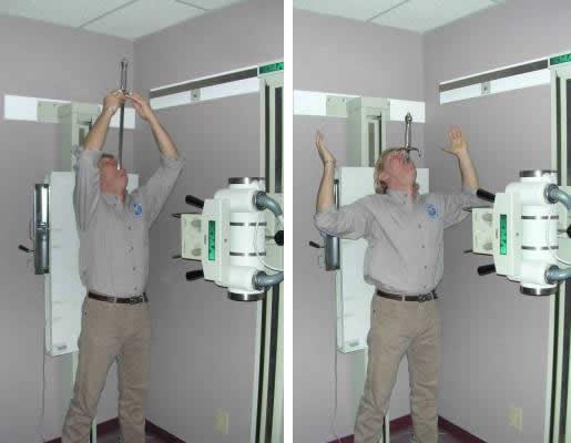 Dan Meyer being X-Rayed