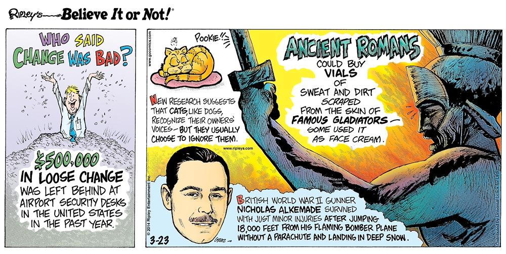 Cartoon 03-23-2014 - Ripley's Believe It or Not!