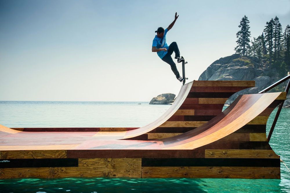 video the floating skate ramp ripley 39 s believe it or not. Black Bedroom Furniture Sets. Home Design Ideas