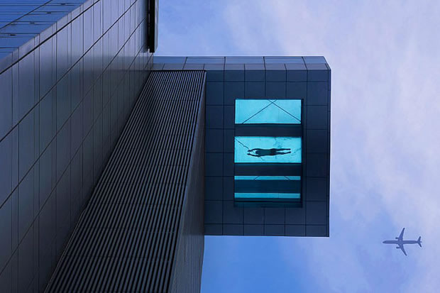 Glass bottomed Pool