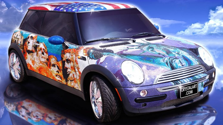 Mini Cooper covered in 1M Swarovski crystals