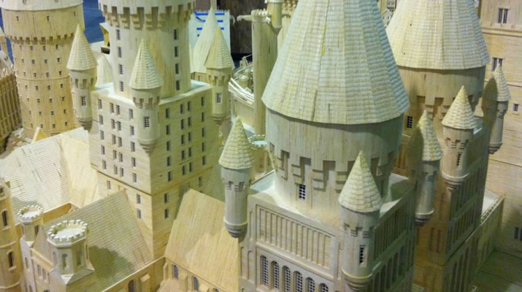 Castle made with 450K matchsticks