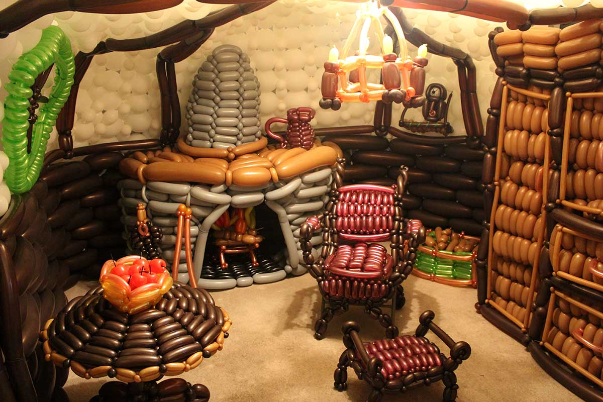 The Hobbit House made of balloons