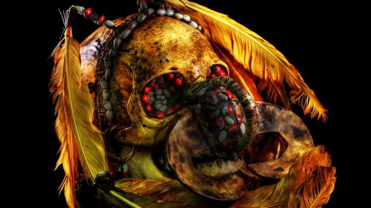 Asmat Cannibal Skull