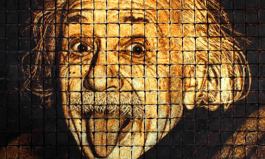 Einstein made from 440 pieces of toast