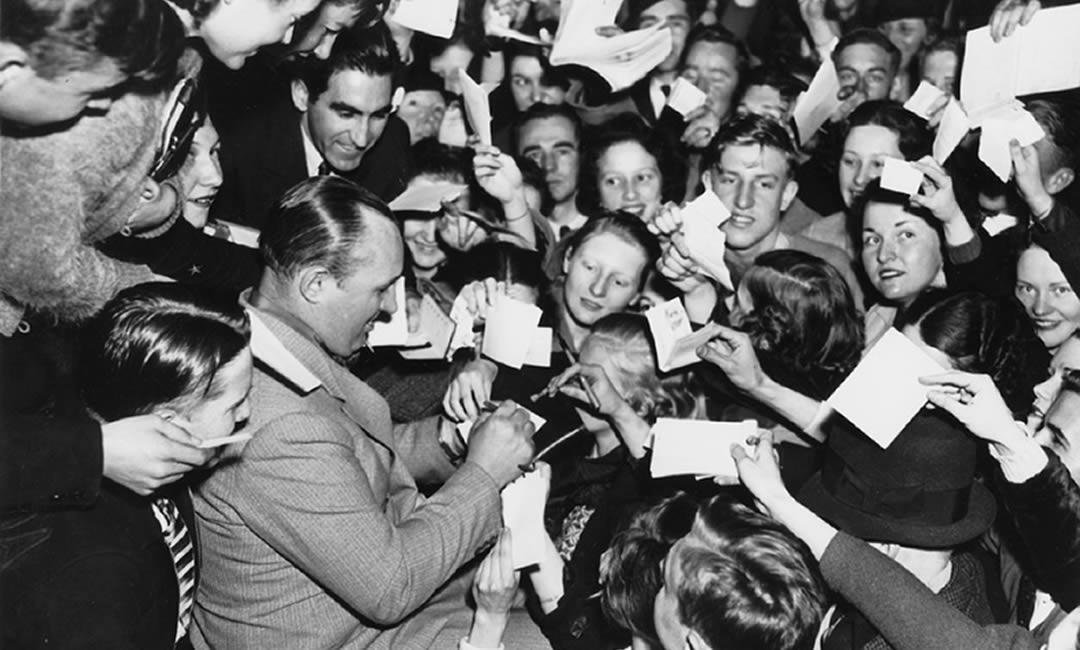 Robert Ripley signing autographs