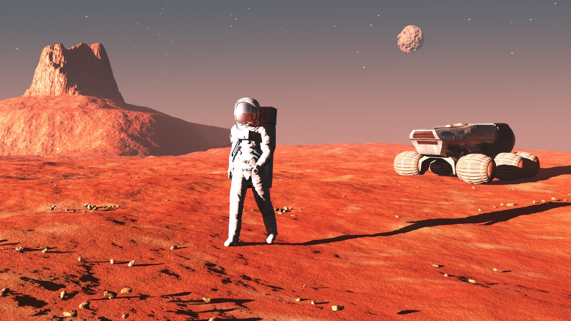person on mars