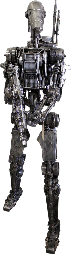 Star Wars droid made from recycle junken car parts