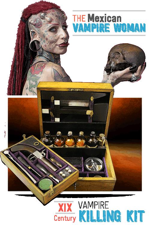 Vampire Woman & 19th Century Vampire Kit
