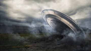ufo crashing
