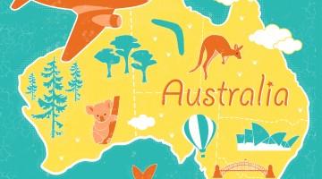cartoon australia