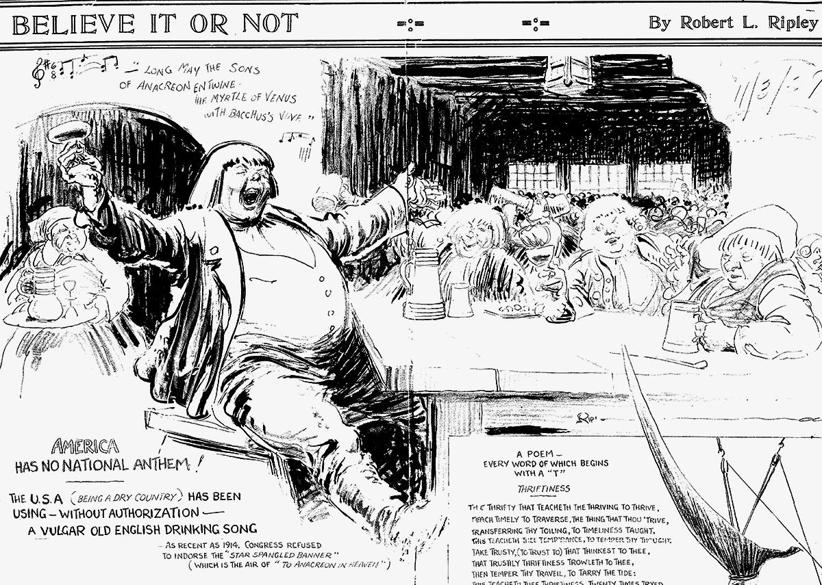 Ripley's Cartoon November 3, 1929