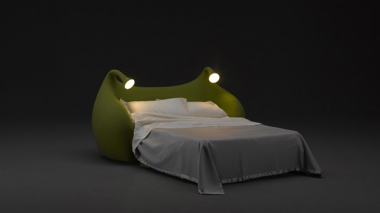 Sofa bed with light