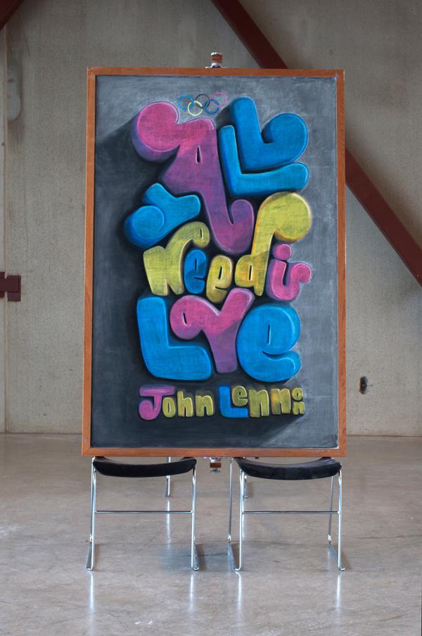 anonymous chalk art by  u0026quot danger dust u0026quot