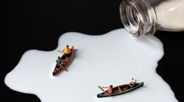 Milk Kayaking by Christopher Boffoli