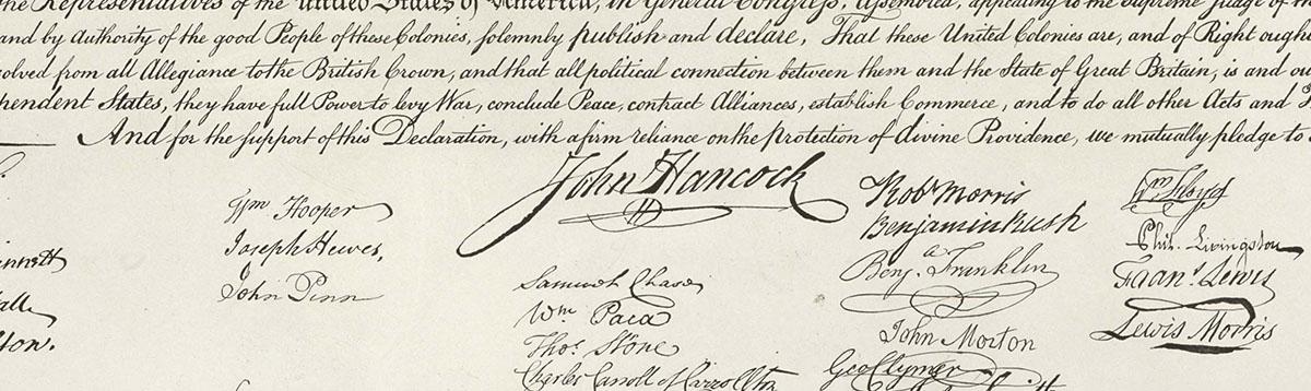 John Hancock's Famous Signature