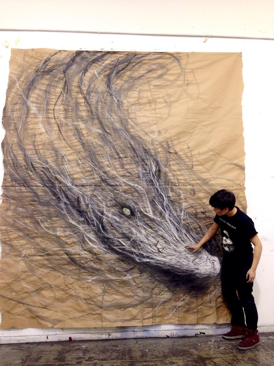 Salt water crocodile. (2014) by Fiona Tang