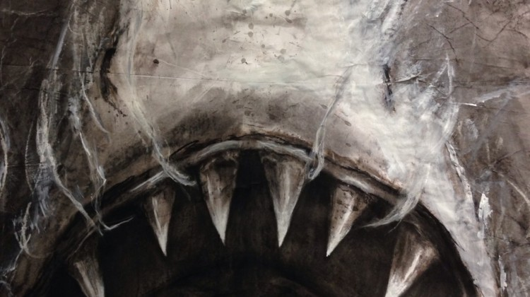 Shark vs Humpback Whale by Fiona Tang