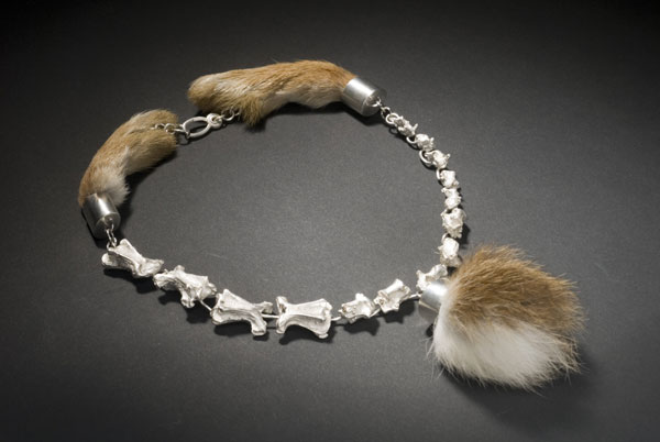 bone and fur necklace