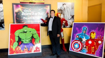 Opera singer unveils his superhero sugar art